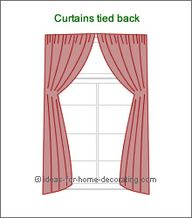 arch curtains tied b