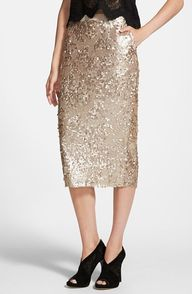gold sequin skirt (i