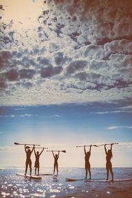 Paddle board yoga! P
