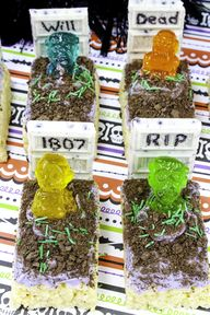 DIY Zombie Graves Rice Krispies Treats!