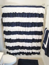 DIY striped ruffle s