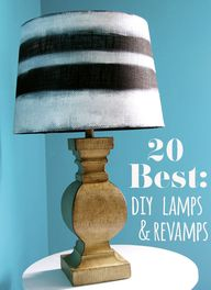 DIY lamps and makeov