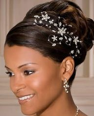 Marvelous African American Bridal Hairstyles For Long Hiar With Veil Half Up Short Hairstyles For Black Women Fulllsitofus