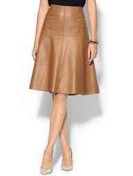Leather bell skirt i