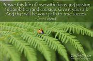 Pursue this life of