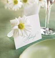 Table card with flow