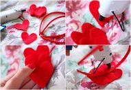 DIY Felt Heart Headb