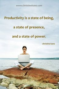 Productivity is a st