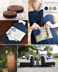 im gonna choose this chocolate brown and navy blue wedding colors for the fall country wedding, maybe insert some orange is okay?