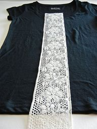 DIY lace shirt...