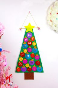 No Sew Felt Christmas Tree Advent Calendar 1