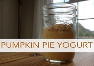 Pumpkin Pie Yogurt {