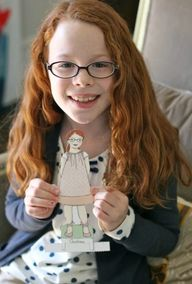 Paper Dolls - Personalized Custom Paper Doll A La Carte – Lily and Thistle Creative Studio
