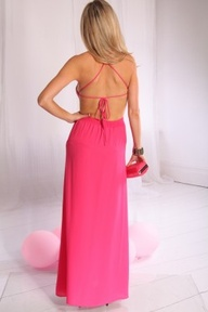 open back dress in f...