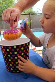 Kids Glitter Pumpkin