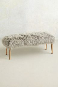 Luxe Fur Bench #anth