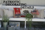 Patriotic decorating details