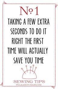 Sewing Tip