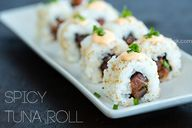 Fiery spicy tuna rol