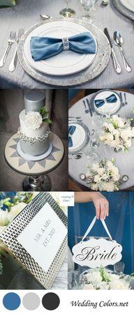 Silver  Blue Wedding