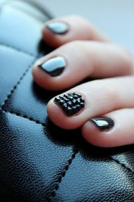 Black manicure with