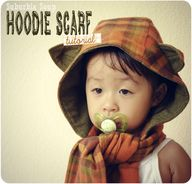 hooded scarf (scarf