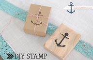 a DIY stamp -- sweet