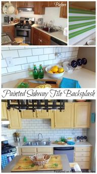 Painted Subway Tile