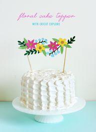 DIY: floral cake top