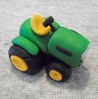 Cute tractor fondant