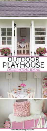 Outdoor Playhouse Decorating Ideas You'll Love