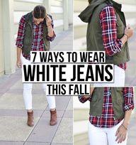7 Ways to Wear White...
