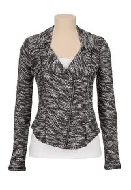 marled knit jacket