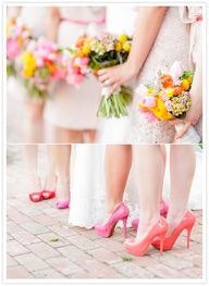 Shades of pink bride