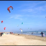 Kite Surfing on Doll...