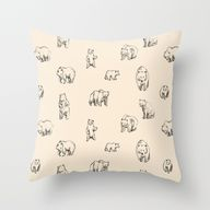 Bears Throw Pillow b