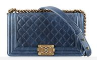 Chanel Boy Bag Blue