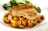 pork and leek pie
