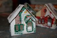 Make glitter houses