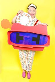 DIY View Master Toy Mommy and Me Halloween Costume!
