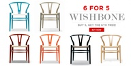 Get 6 Wishbone Chair
