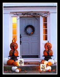 pumpkin topiaries...
