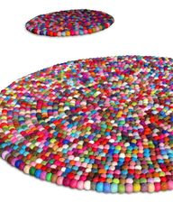 Felted rug. Fun for