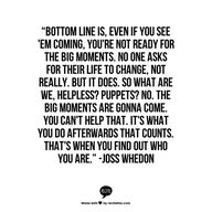 joss whedon quote. a