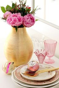 Pink, Gold and Flowe