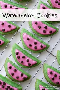 Watermelon Cookies-