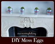 DIY Moss Eggs - Easy