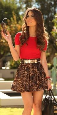 red & leopard print<...