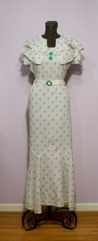 1930's White Organdy
