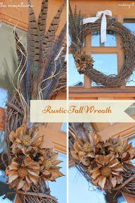 DIY Rustic Fall Wrea